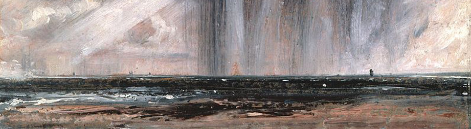 Constable: Seascape Study with Rain Cloud, 1827