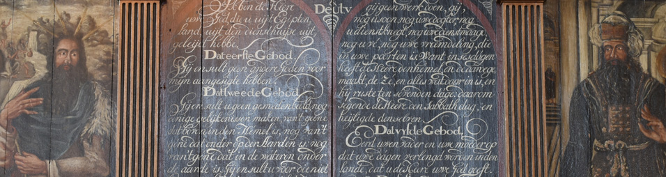 Tiengebodenbord/Ten Commandments, Cunerakerk, Rhenen, NL, ca. 1600