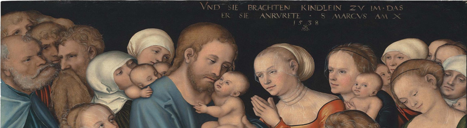 Lucas Cranach the Younger: Christ blesses the Children/ Christus zegent de kinderen, 1538