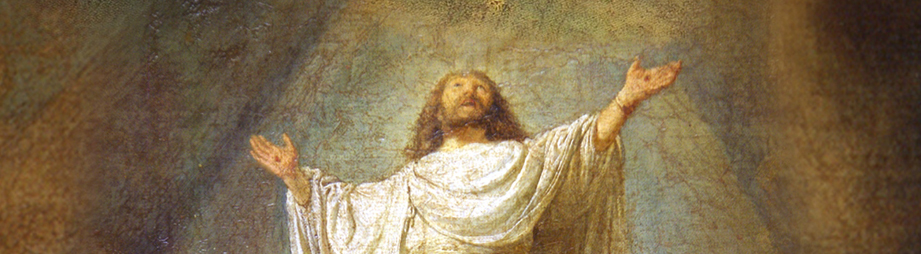 Rembrandt: Ascension/Hemelvaart, detail