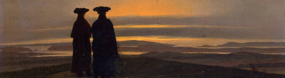 Caspar David Friedrich: Sunset/zonsondergang, 1830