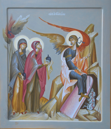 Anastasis, Women Arrive at the Empty Tomb, dans immagini sacre Anastasis,%20Myrrhbearing%20Women%20Arrive%20at%20the%20Empty%20Tomb
